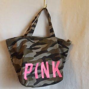 Victoria's Secrete Pink Camo Tote Bag